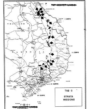 map of vietnam 1969. Map showing SOG mssions into
