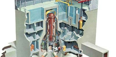 Illustration of the construction of of a typical GE reactor of the type found at Fukushima