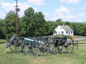 Antietam battlefield and Dunker Church today