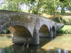 Lower Bridge (Burnside Bridge) near the final area of attack