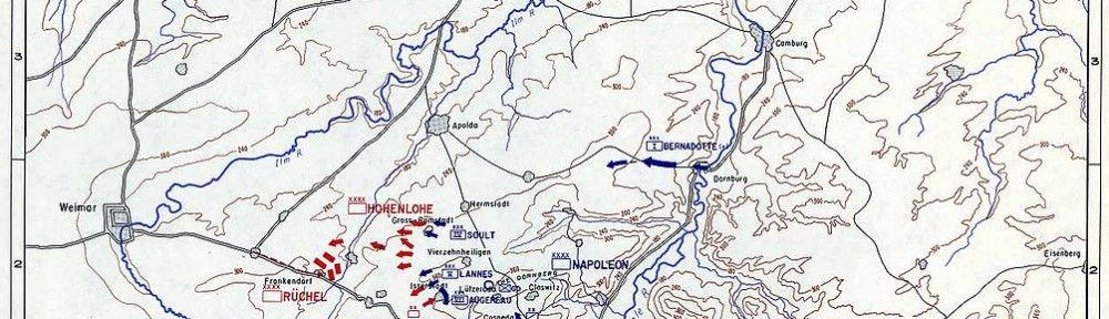 Relative locations of the engagements on 14 Oct 1806