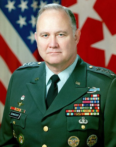 Official Photo of General Schwarzkopf from his final assignment as CINC CENTCOM