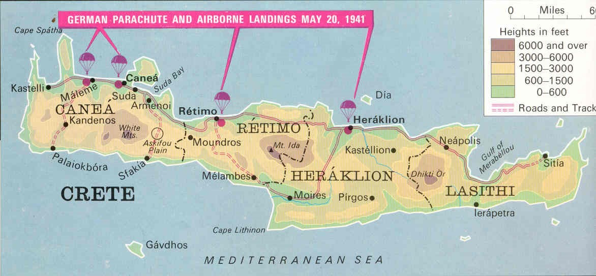 German Plan for the invasion of Crete, May 1941