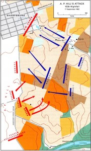 Afternoon movement's during the battle. Map Courtesy USACMH