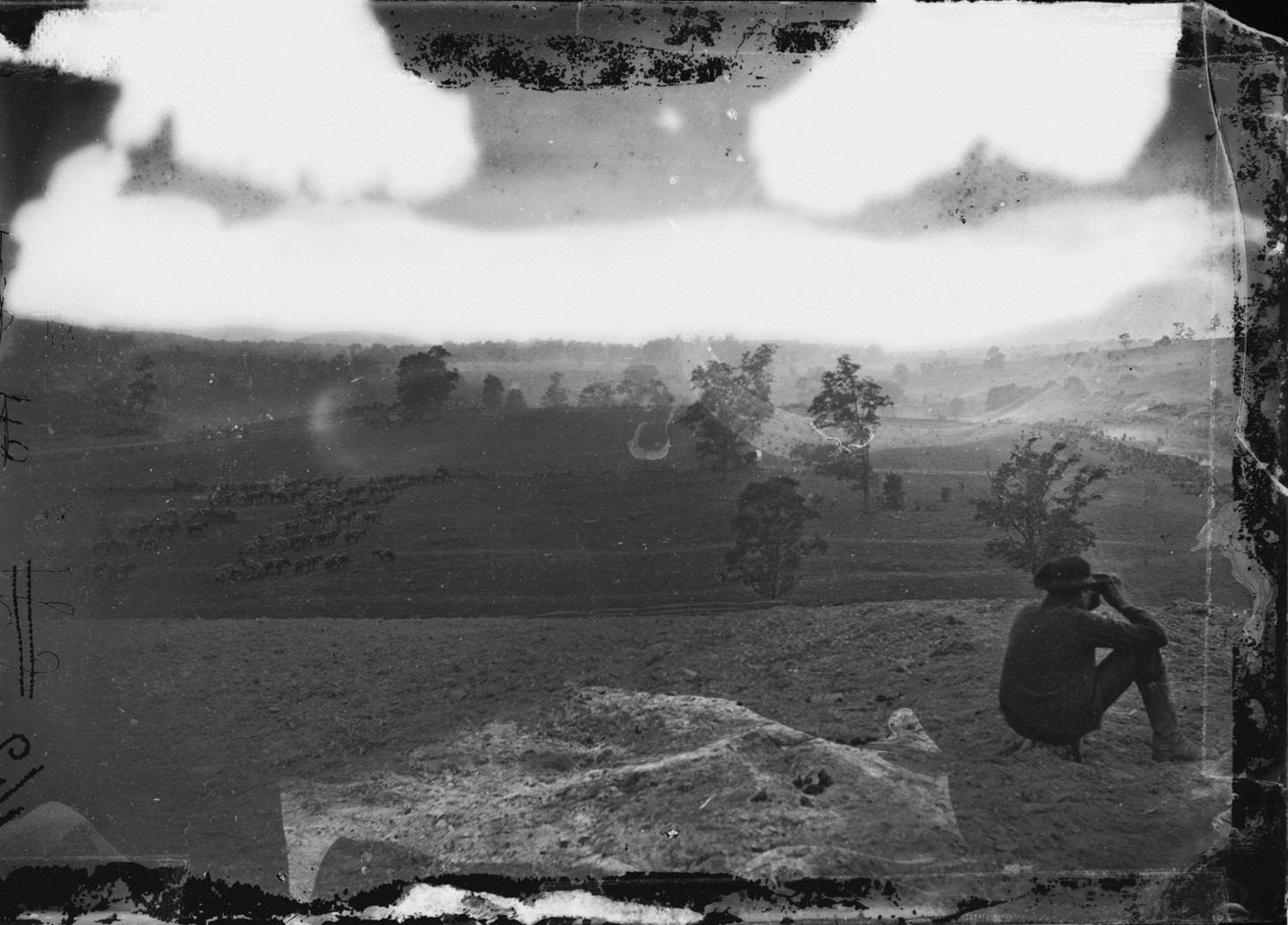 Photo of the Antietam battlefield taken on the day of the battle by Alexander Gardner