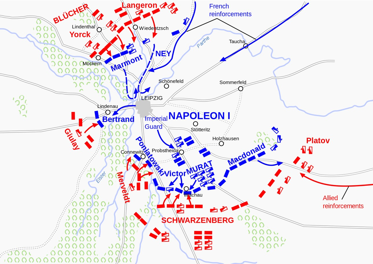 Army Positions on the first day