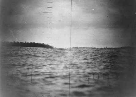 View of Makin Island from the Periscope of the USS Nautilus Before the Raid
