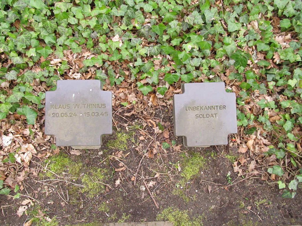 Two of the gravestones