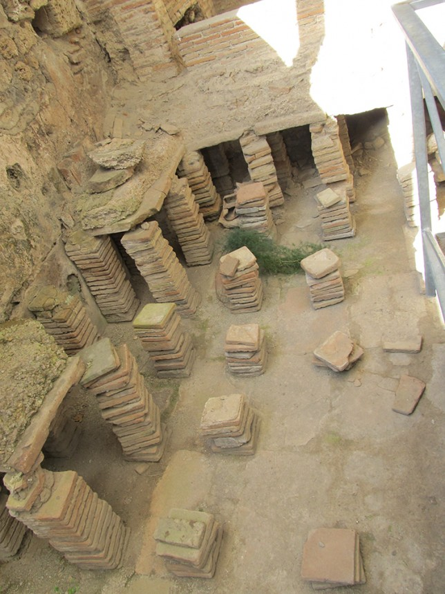 The caldarium (Hot Baths) of the central Baths in Pompeii. I found this interesting because the hypocausts used to heat the room are clearly visible.