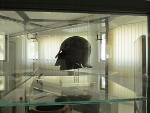 A Corinthian style helmet found at Cannae.