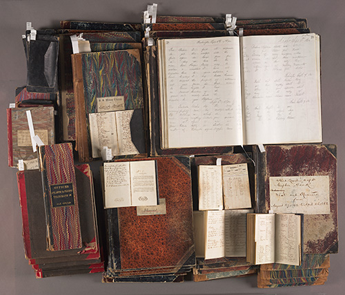 Some of the logbooks that need to be transcribed